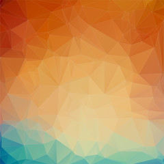 teal orange triangle Background
