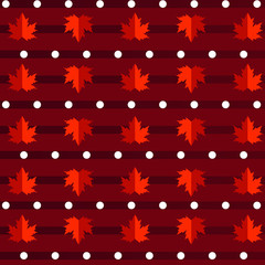 seamless maple leaf patterns