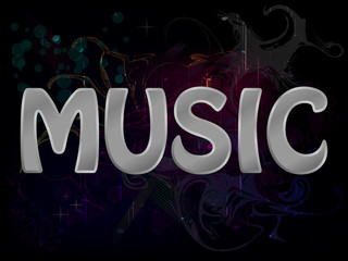 Music Abstract Grunge Colorful Background Poster Vector