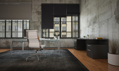 Stark modern office interior