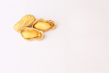 Seeds, peanuts  on a white background.