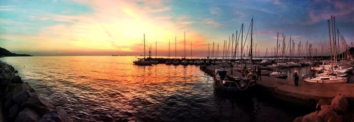 A magic evening with a rainbow sunset