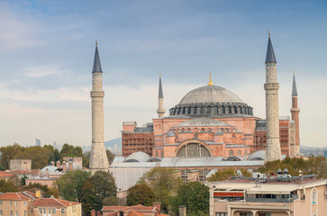 Beautiful view of Hagia Sophia, Istanbul