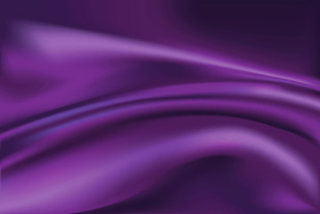 Vector of Violet silk fabric background