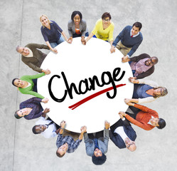 People Social Networking and Change Concept