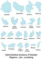 Gebietskarten von Schweden
