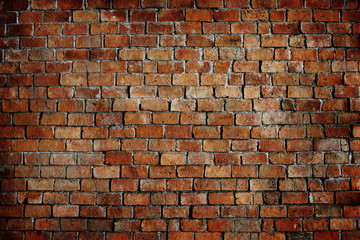 Poster Brick wall Classic Beautiful Textured Brick Wall