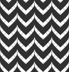 Seamless pattern with chevrons in black and white.