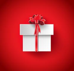 Vector gift box illustration.