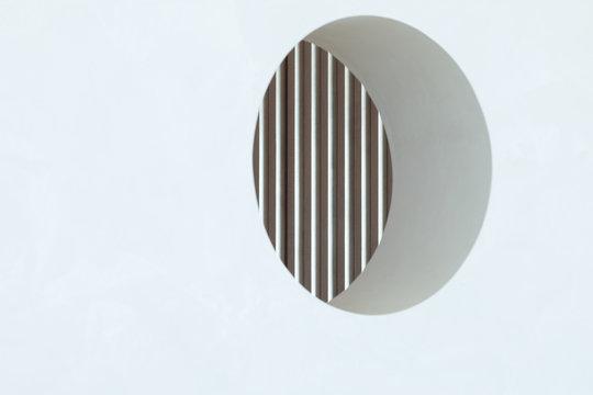 Geometrical circle in the wall
