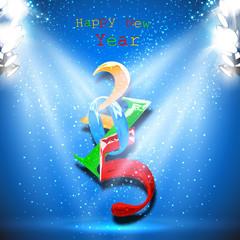 2015 new year vector card, easy all editable