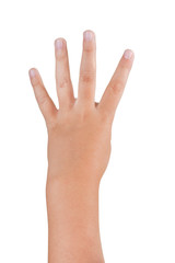 Gestures of children's hands