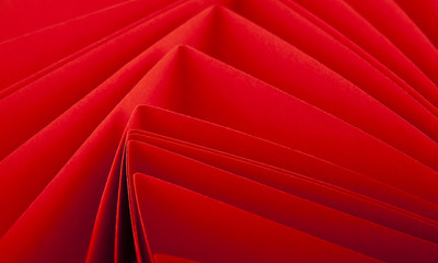 red pieces of paper