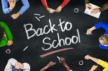 Multi-Ethnic People and Back To School Concepts