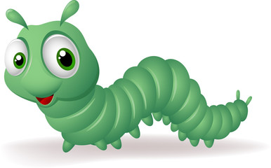 Green cartoon caterpillar