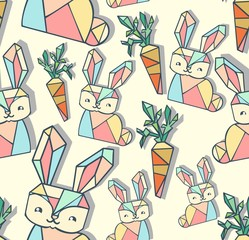 fashionable pattern rabbit with carrot