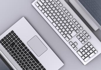 デスクトップPCとノートPC