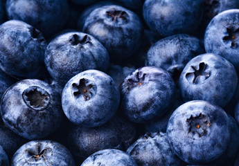 Fresh ripe blueberries close up