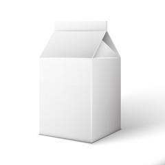 Milk, Juice, Beverages, Carton Package Blank White