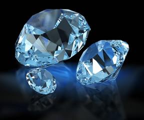 Diamonds on black
