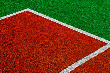 Markings on synthetic sports ground 5