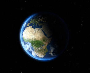 The Earth from space. Africa