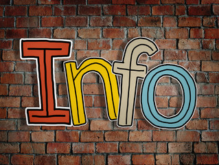 Word Info and Brick Wall in the Back