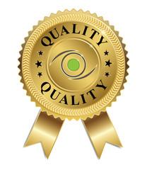 Eye of Quality (Gold & Green)