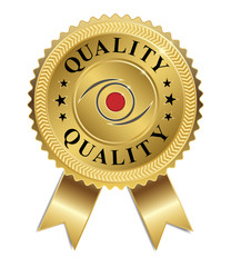Eye of Quality (Gold & Red)