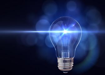 Light bulb with flash of light