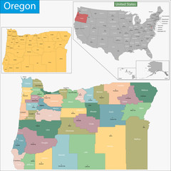 Oregon map