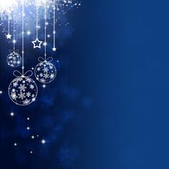 Blue Xmas Holiday Balls
