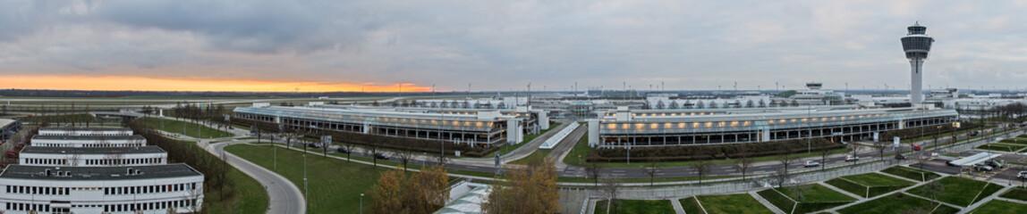 Flughafen Panoramafoto