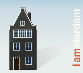 Amsterdam, The paper house on a light background.