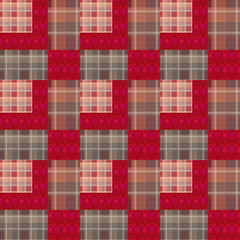 Abstract seamless lace checkered plaid textile design pattern ba