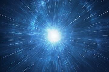Deep space travel supernova