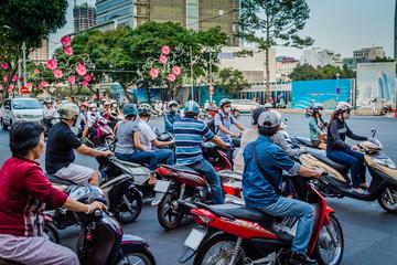 Verkehr Saigon Vietnam