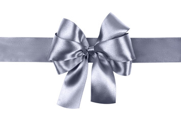 grey blue bow photo made from silk