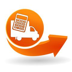 Fototapete - frais de livraison sur bouton web orange