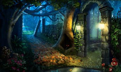 Obraz night landscape - fototapety do salonu