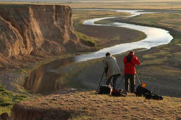 Photographes au-dessus du canyon