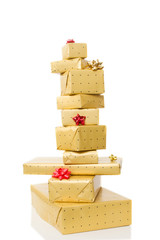 a tower of present