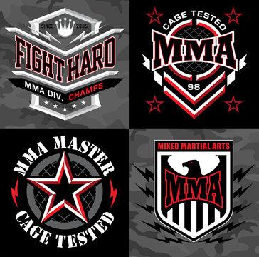 MMA mixed martial arts crest emblem graphics