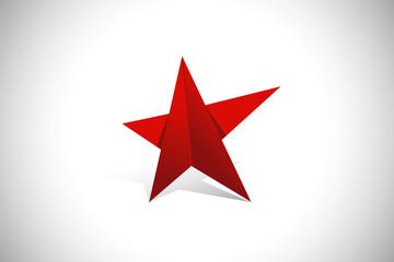 red star pride geometry vector logo
