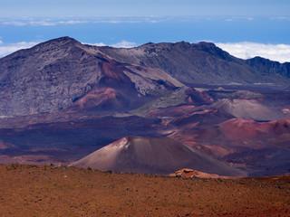 Haleakala volcanic crater