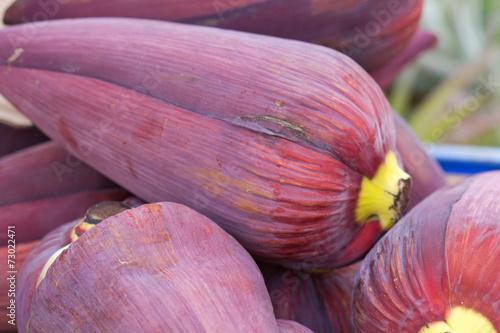 Baba Figue Fleur Comestible Du Bananier Reunion Stock Photo And