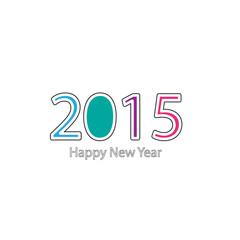 Happy new year 2015, vector illustration,