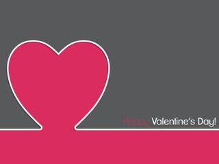 Simple valentine card design