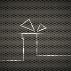 Gift metal texture background, vector illustration