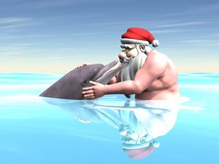 Santa with a Dolphin